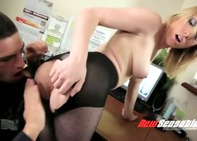 Young employee seduces busty secretary Lily LaBeau