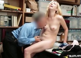 Teen shoplifter Zoe Parker got her tight pussy fucked so hard by the LP Officer she got bend over and continue to fuck her pussy so hard from behind w