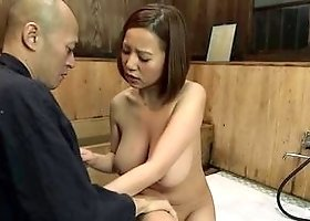 Delightful breasty asian MILF Ruri Saijou acting in amazing BJ scene