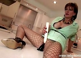 Tempting busty experienced lady Lady Sonia having a passionate masturbation