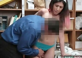 Horny shoplifter Angel gets banged by Officers