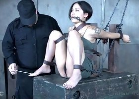 Vulnerable Milcah Halili is Asian nympho who deserves some hardcore bondage