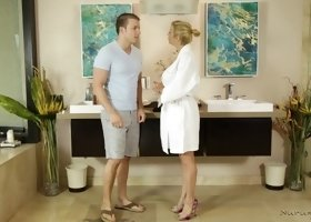 Amazing sexual affair with horny blonde Alexis Fawx