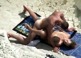 Reluctant beach sex