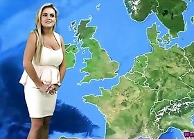 Luscious and sexy weather girl stuns her online viewers with nude report