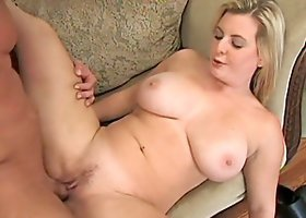 Busty boss is riding her man and getting jizzed