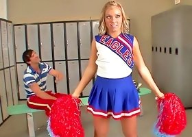 Flexible cheerleader locker room sex