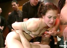 Princess Donna Dolore, Mr. Pete and Cheyenne Jewel in incredible bdsm group porn movie