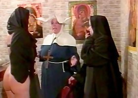 Femdom Spanking For A Missbehaving Nun Slut With A Big Ass
