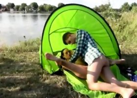 Girl iran cumshots Eveline getting ravaged on camping site