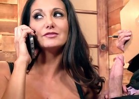 Super hot mistress knows how to conduct business meetings