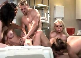 Stoya Takes Part in Orgy