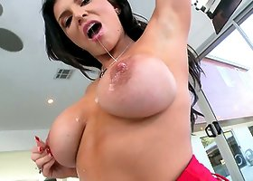 Romi Rain's Big Bouncing Boobs and Wet Fucked Pussy