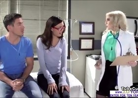Doctor Christie teaches a care free anal method and gets fucked