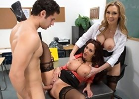 Nasty Kind Of Meeting With Two MILF Professors