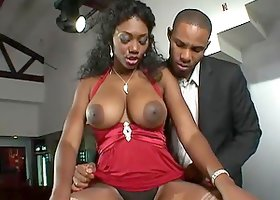 Hot Black Sex with Ebony Nyomi Banxxx and Her Big Tits and Bubble Butt