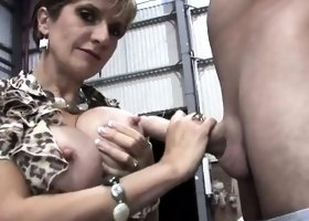 Unfaithful english mature gill ellis pops out her gigantic b