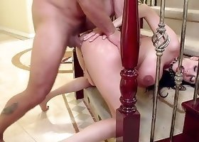 Impressive cock-riding action from a perfect angle