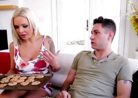 Step mom offers cookies but son wants something else