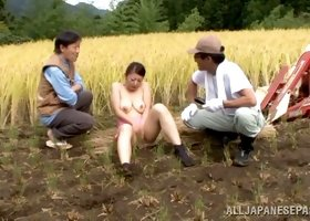 Naughty Ayano Murasaki gets fucked hard in a field