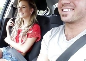 Hitchhiker Bella Rose Giving Blowjob In Car