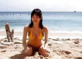 Japanese Babe At The Beach Non-Nude
