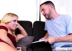 Spoiled chick Bailey Brooke seduces girlfriend's boyfriend and fucks him like a dirty whore