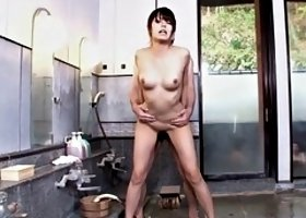 asian hun rin hitomi chills in hot spring before fucking in bathroom