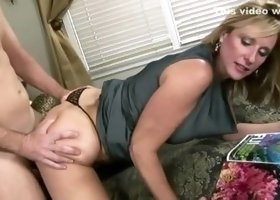 Delightful blond MILF Jodi West acting in a sperm shot porn movie