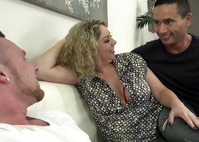 Kiki Daire joins a couple of men for a nasty bisexual threesome